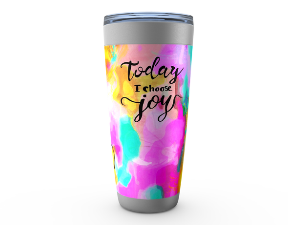 TODAY I CHOOSE JOY Stainless Steel Tumbler - ivanguaderramaonlinestores