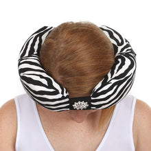 White Zebra Beauty Loop Anti-Aging Pillow Top