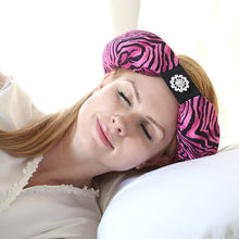 Pink Zebra Beauty Loop Anti-Wrinkle Beauty Pillow In Use