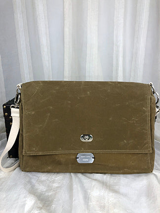 Waxed Canvas Good Messenger - Custom - Sadie Luca