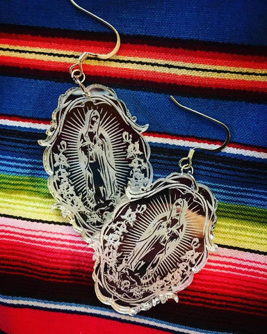Filigree ~ Our Lady of Guadalupe Earrings