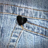 Black Heart Emoji Pin