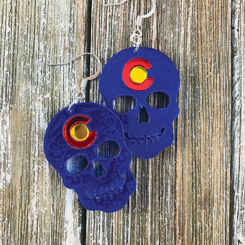 Colorado Skull Earrings