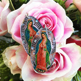 Mirror Oval ~ Our Lady of Guadalupe Earrings