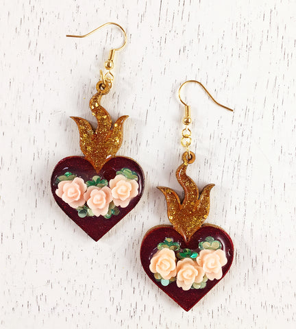 True Love Heart Earrings #1052