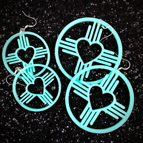 Zia Heart Hoop Earrings