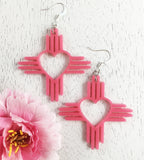 "Zia Heart Earrings 2"" ~ Pick Your Color"