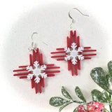 Zia Snowflake Earrings 1.5""