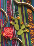 Prickly Pear Cactus Earrings
