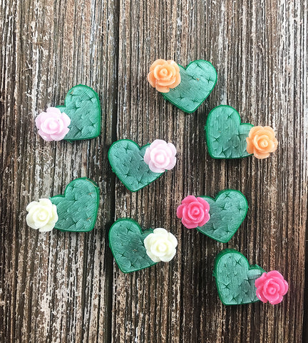 Candy Cactus Heart  Studs