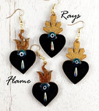 Evil Eye & Lover's Tears Earrings Style #1059