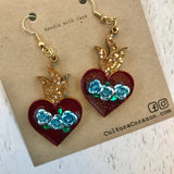 Sacred Heart Earrings 1.5