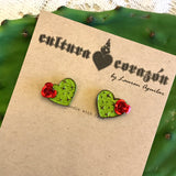 Cactus Heart ~ Wood Studs