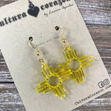 "Zia Sun Symbol Earrings ~ 1.25"" Style #1006"