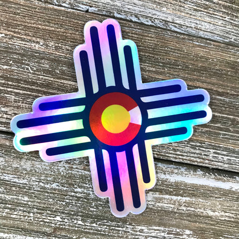 NM CO Zia Symbol Holographic Sticker