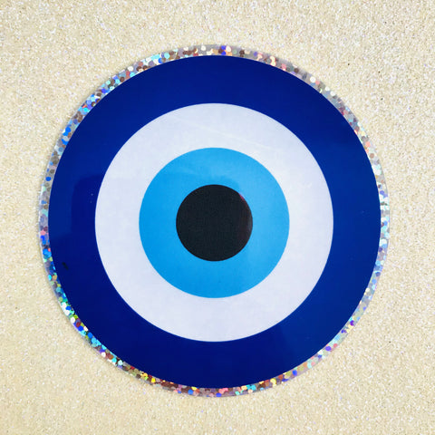 Evil Eye Glitter Sticker