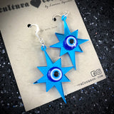 Evil Eye Star Earrings