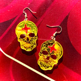 Zia Skull Mirror Earrings