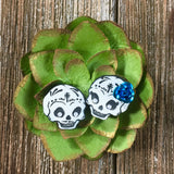 Sugar Skull Stud Earrings #1003