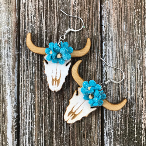 Cow Skulls Earrings by Cultura Corazon