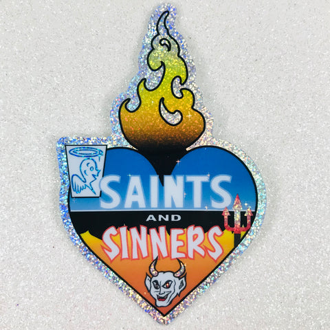 Saints and Sinners Sacred Heart Sticker