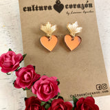 Sacred Heart Drop Studs