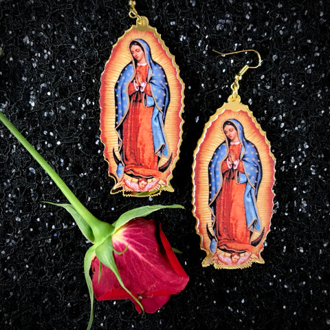 Our Lady of Guadalupe Drop Earrings