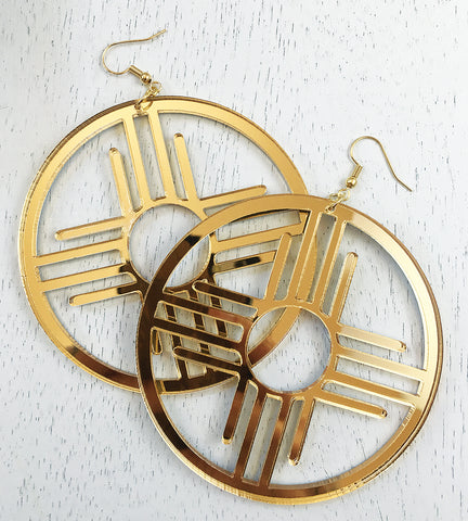 "Zia Hoops 3"" Earrings by Cultura Corazon"