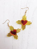 Zia NM Heart - Two Tone Earrings