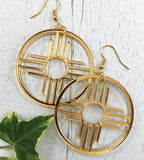 "Zia Hoop Earrings 1.75"" by Cultura Corazon"