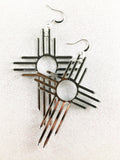 Zia Cross Earrings  3""
