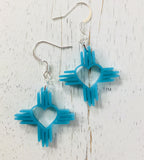 "1"" Zia Heart Earrings ~ Pick Your Color #1004"