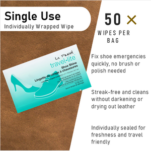 La Fresh® Shoe Shine Wet Wipes 50 Count