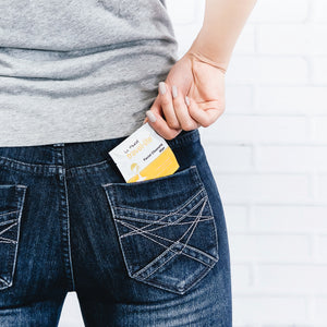 Compact LA Fresh wipe fits in your pocket!