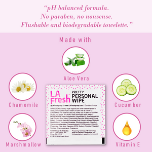 Pretty Personal Flushable Feminine Hygiene Wipes - 50 Single Packets