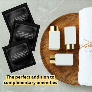 La Fresh® GLAM MAKEUP REMOVER WIPES - 500 Single Packets -Satin Onyx Black **