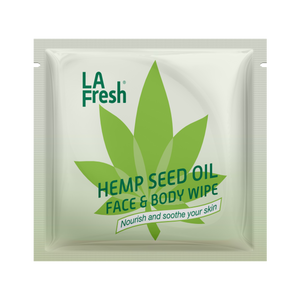 Natural Hemp Seed Oil Body and Face wipes-25 single packet