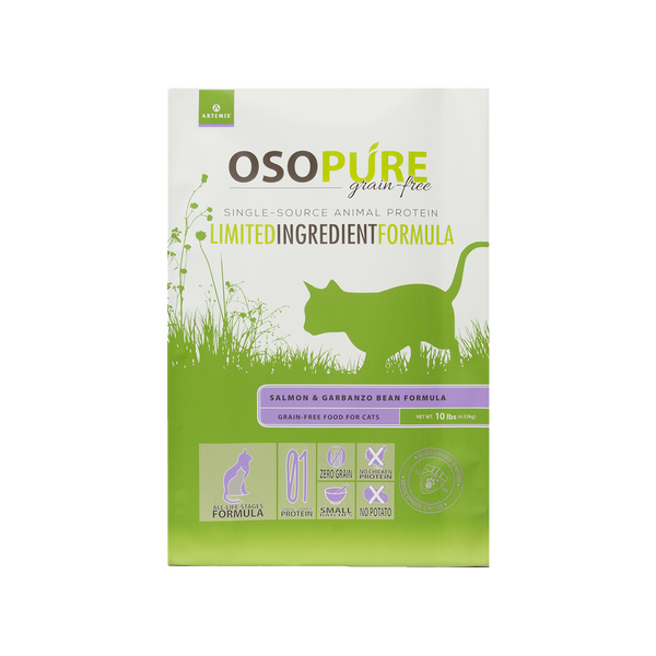OSOPURE Feline Grain Free Salmon & Garbanzo Bean Dry Cat Food