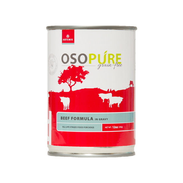 OSOPURE Grain Free Beef Formula Canned Dog Food (12 pack)