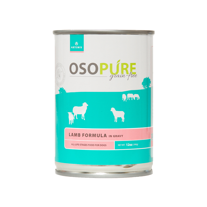 OSOPURE Grain Free Lamb Formula Canned Dog Food (12 pack)