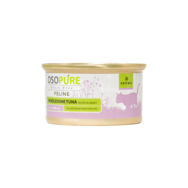 OSOPURE Feline Grain Free Wholesome Tuna In Gravy Canned Cat Food (24 pack)