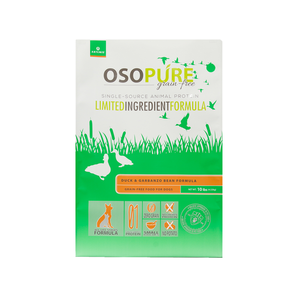OSOPURE Grain Free Duck & Garbanzo Beans Dry Dog Food