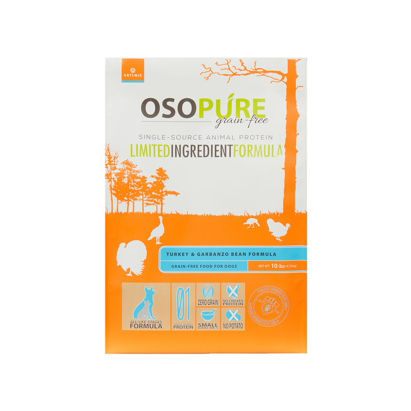 OSOPURE Grain Free Turkey & Garbanzo Bean Dry Dog Food