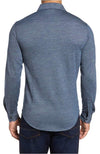 Bugatchi Long Sleeve Knit Shirt Blue