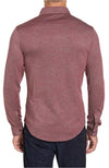 Bugatchi Long Sleeve Knit Shirt Burgundy