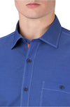 Bugatchi Topstitch Outline Sport Shirt
