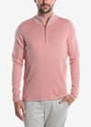 Raffi Cotton Cashmere Classic Zip Mock Sweater Sponge