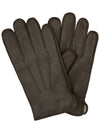 Goatskin Leather Gloves Brown