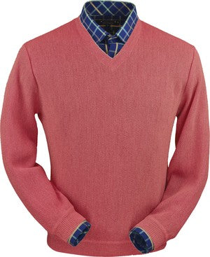 Peru Unlimited V-Neck Sweater Red Coral Heather