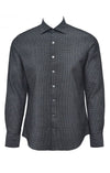 Stone Rose Charcoal Waffle Textured Dress Shirt